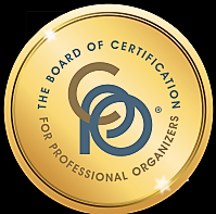 Certification Logo from the Board of Certification for Professional organizers