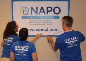 NAPO-CT members sporting official blue with white lettering T-shirt